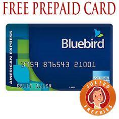 Free Bluebird Prepaid Card