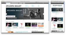 Atlanta Ballet - lovely responsive website