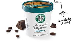 Starbucks' Java Chip Frappucino Ice Cream - didn't even know they made this. yumm i want it