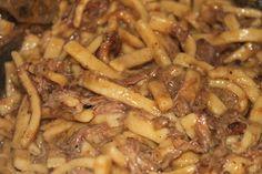 Beef and Noodles {Crock Pot}