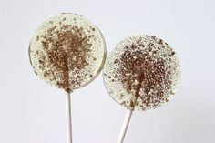 Autumn Wedding Lollipops by SweetCarolineConfect
