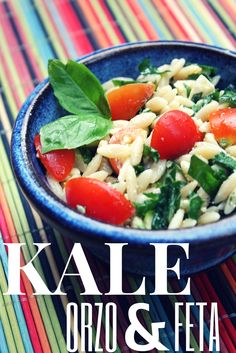 Summer recipies: Kale, Orzo and Feta Salad - Quick, easy, and healthy #cookingwithkids #fwcon
