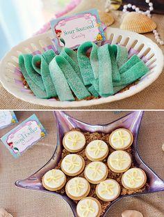 Little Mermaid Party: Under the Sea Adventure!, sour seaweed, sand dollar oreos