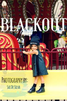 """It was a little chilly by the beach area so we opted for an """"all black"""" look."""