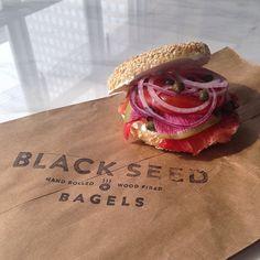 that looks like bagel perfection to me. #blackseedbagels