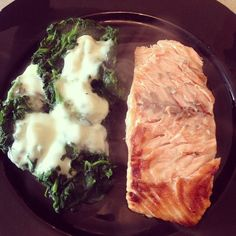Grilled salmon and creamy cheese. #healthyfood #lunch - @melissazino- #webstagram