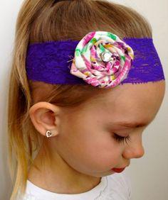 NEON Lace Headband -Child. $6.00, via Etsy.