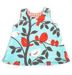 Turquoise Blue Reversible Baby Dress on Etsy, £25.00