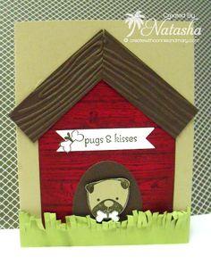 Create Summer 2014 designer card - SU - Hardwood, Hot Diggity Dog, Itty Bitty Banners