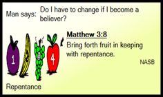 """Matthew 3:8 """"Real Christians live changed lives.""""    One of thousands of scripture memory verses at MemLok.com"""