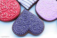 valentine cookies, sugar cooki