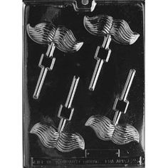 Mustache Lollipop Chocolate Candy Mold