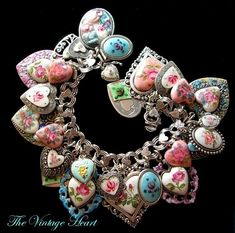 Bracelet I am recreating for April Spring 2013..will be announced on my Facebook page...The Vintage Heart