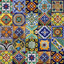 <3 bright bold colors in these Mexican Spanish Tiles