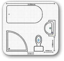 Small bathrooms on pinterest bathroom floor plans small for Bathroom design dimensions