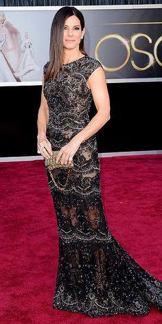 Sandra Bullock looking elegant as always in a #NYFW #StyleCouncil favorite from Elie Saab http://pinterest.com/pin/66568900714164567/ #Oscars