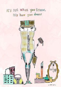 Fashion Quote fashion art fashion illustration by diarysketches, $15.00