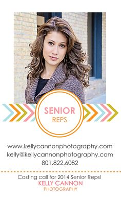 Email me for inquiries on being a Senior Rep for Kelly Cannon Photography!   www.kellycannonphotography.blogspot.com