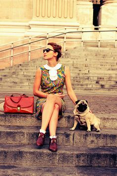 Vintage Dress, Vintage Bag, Vintage Shoes, Lulu <3