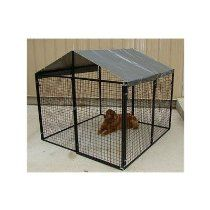 Modular Heavy Duty Powder Coated Kennel with Shade Cover