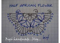 Half african flower hexagon