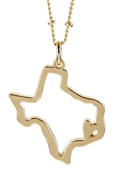 I Love Texas Necklace