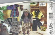 "Linda Carr Vogue Craft Pattern 9140 for 18"" Doll"