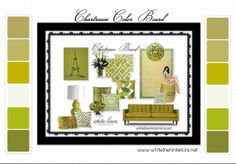 Chartreuse Color Scheme designed by White Linen Interiors | Olioboard | Benjamin Moore Paints
