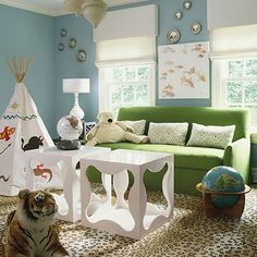 Leopard Chairs - Transitional - living room - From the Right Bank