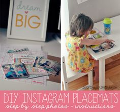 How To Print Instagram Photos   Toddler Approved DIY Instagram Placemats #shop #WalgreensApp #shop #cbias