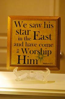 Worship Him.