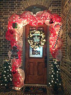 Christmas front door swag