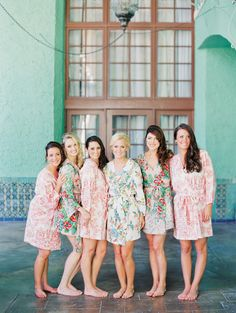 Plum Pretty Sugar Robes for Bridesmaids | On SMP: http://www.stylemepretty.com/florida-weddings/coral-gables/2013/12/03/biltmore-hotel-wedding-by-michelle-march | Michelle March Photography