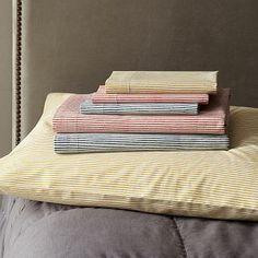 Organic Wavy Stripe Sheet Set Collection #westelm