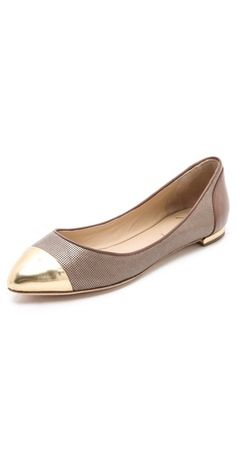 Avignon Ballet Flats with Cap Toe / B Brian Atwood  Visit:  http://fashionartist.org/  Like share and repin :)