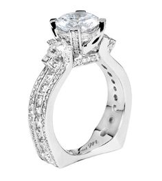 From Michael M. Collection Handcrafted pave and u - set diamond ring
