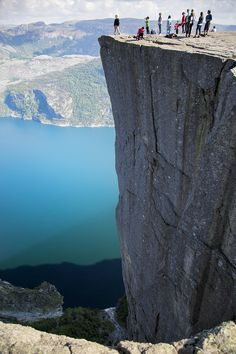 Preikestolen( Preacher's Pulpit or Pulpit Rock), near Stavanger, Norway