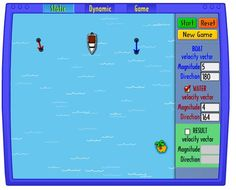 Use vectors to move the boat to the island.