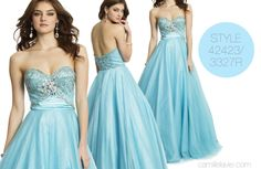 Camille La Vie Glitter Prom Dress with Beaded Butterfly