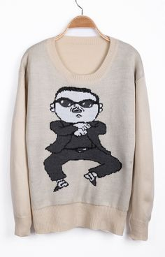 Apricot Colored 'Gangnam Style' Sweater!