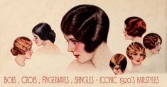 Hairstyles of the 1920s - as with most other aspects of the 1920s woman's look – were short short short ! #Downton #Fashion #Era