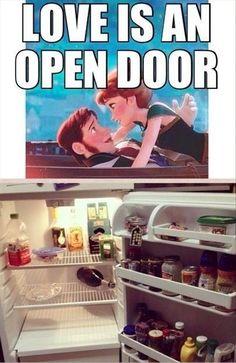 """""""Love is an open door"""""""