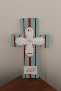 Blue with red stripes baseball cross 1 Peter 2:24