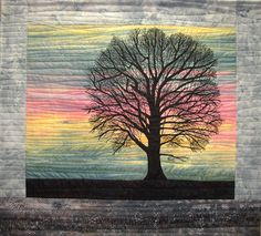 Another Twilight on Springer Ridge Road - by Mary L. Hackett. So emotional, so lovely. Landscape quilt.