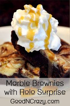 marbled cream cheese brownie with rolo surprise by GoodNCrazy