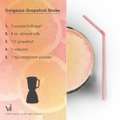 food recipes, foods, visalus recip, vi shake recipes, blog, gorgeous grapefruit, mornings, vi shakes, visalus shake recipes