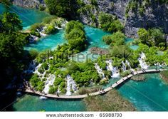 Breathtaking view in the Plitvice Lakes National Park