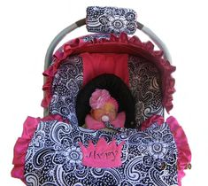 Baby car seat cover girl car seat cover Infant carseat by isewjo, $74.00