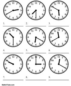telling time worksheets | telling the time worksheet More