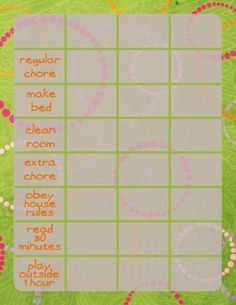 Craft With Me: Screen Time Chart